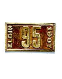 old Illinois brass license plate 5