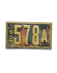 old Illinois brass license plate 12
