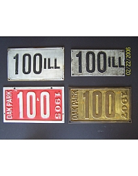 old Illinois metal license plates 9