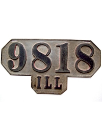 old Illinois metal license plates 5