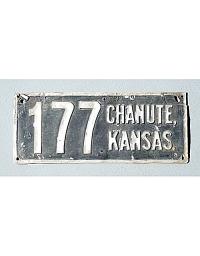 old Kansas metal license plates 4