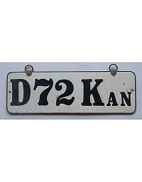old Kansas porcelain license plates