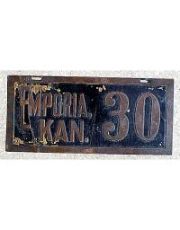 old Kansas brass license plate 1