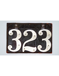 old Kansas leather license plate 2