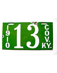 Old Kentucky License Plates 5