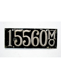 old Missouri leather license plate 12