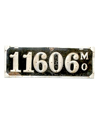 old Missouri leather license plate 8