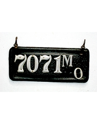 old Missouri leather license plate 4