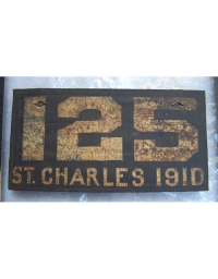 old Missouri leather license plate 15