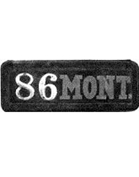 old Montana leather license plate