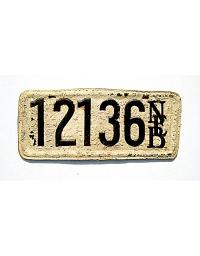 old Nebraska leather license plate 8