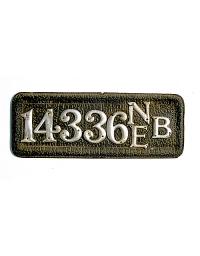 old Nebraska leather license plate 9
