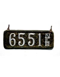 old Nebraska leather license plate 4