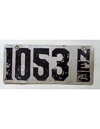 old Nebraska metal license plates 1