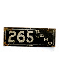 old Nevada metal license plates 5