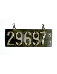 old New Jersey leather license plate 17