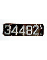 old New Jersey leather license plate 19