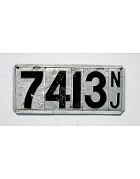 old New Jersey metal license plates 3