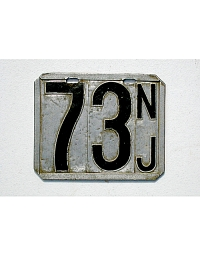 old New Jersey metal license plates 1
