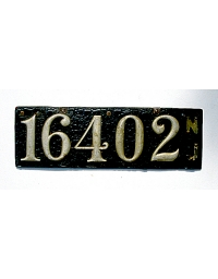 old New Jersey leather license plate 11
