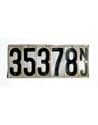old New Jersey metal license plates 8