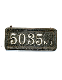 old New Jersey leather license plate 4