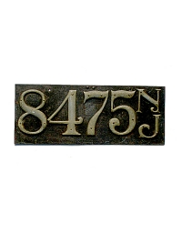 old New Jersey leather license plate 7
