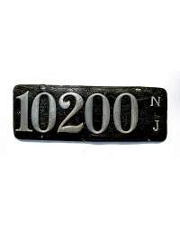 old New Jersey leather license plate 9