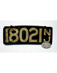 old New Jersey leather license plate 12