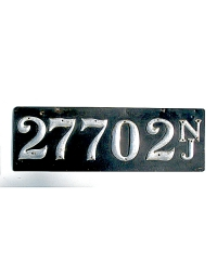 old New Jersey leather license plate 14