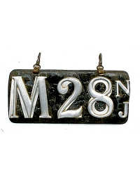 old New Jersey leather license plate 20