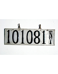 old New York metal license plates 11