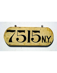 old New York wooden license plate