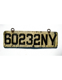 old New York leather license plate 15