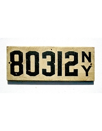 old New York metal license plates 7
