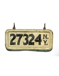 old New York leather license plate 10