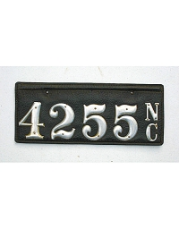 old North Carolina leather license plate 2