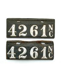 old North Carolina leather license plate 1