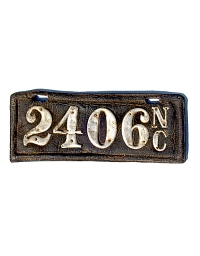 old North Carolina leather license plate 3
