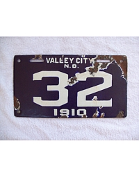 old North Dakota metal license plates 2