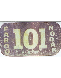 old North Dakota leather license plate 3