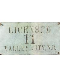 old North Dakota leather license plate 2