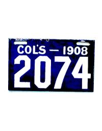 old Ohio metal license plates 8