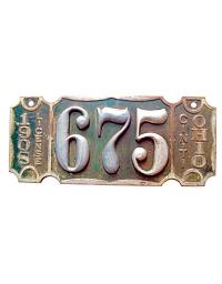 old Ohio metal license plates 6