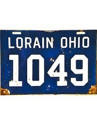 old Ohio metal license plates 3