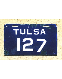 old Oklahoma metal license plates 2