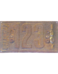 old Oklahoma metal license plates 3