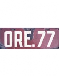 old Oregon porcelain license plates 1