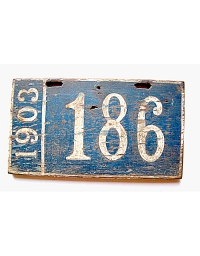 old Pennsylvania wooden license plate