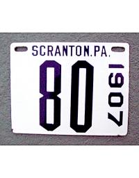 old Pennsylvania metal license plates 7